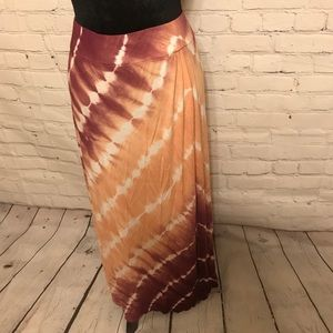 Faded Glory Tie-dyed Maxi Skirt